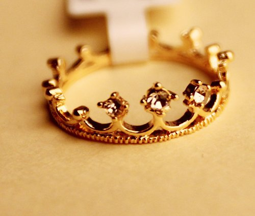 Free to send 5 dollars coupon! Vintage personality Set auger crown ring men jewelry rings for women A0226-inRings from Jewelry on Aliexpress.com
