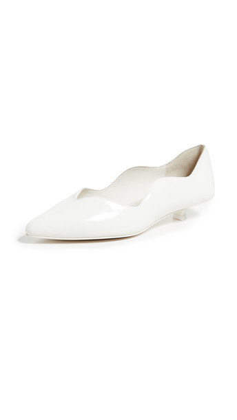 Jeffrey Campbell Jennie Point Toe Pumps in white