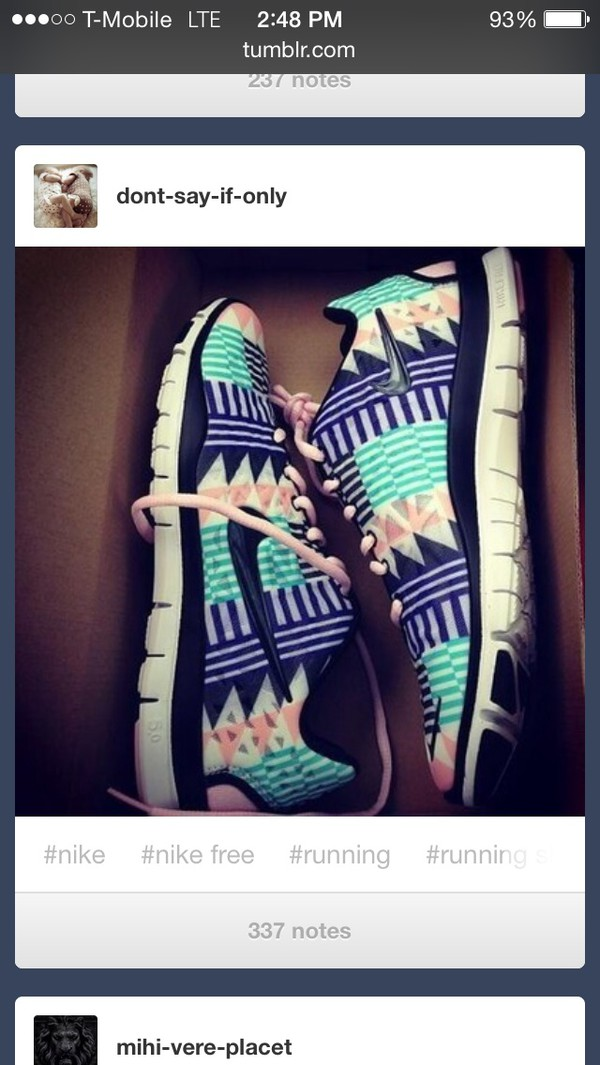 shoes nike running shoes tribal pattern colorful purple shoes light pink turquoise shoes