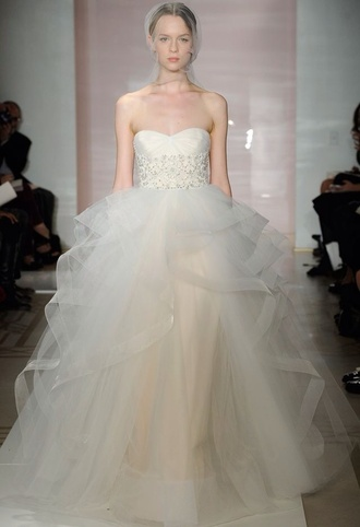 dress wedding dress tulle skirt