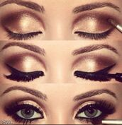 make-up,copper,gold,eye shadow,liner,lashes,mascara,gitter,shimmer,shimmer eyeshadow