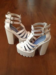 Used jeffrey campbell freema white shoes uk 5 euro 38