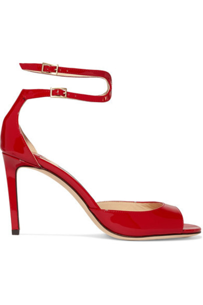 Jimmy Choo sandals leather sandals leather red shoes