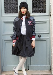 jacket,chanel,chanel style jacket,teddy,leather jacket,red,black,white,leather,preppy