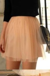 skirt,pink,pink skirt,short skirt,tulle skirt,pink tulle,pink tulle skirt,light pink,light pink skirt,pleated,pleated skirt,tutu,sheer,high waisted,high waisted skirt