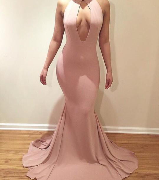 Keyhole Prom Dress Tight