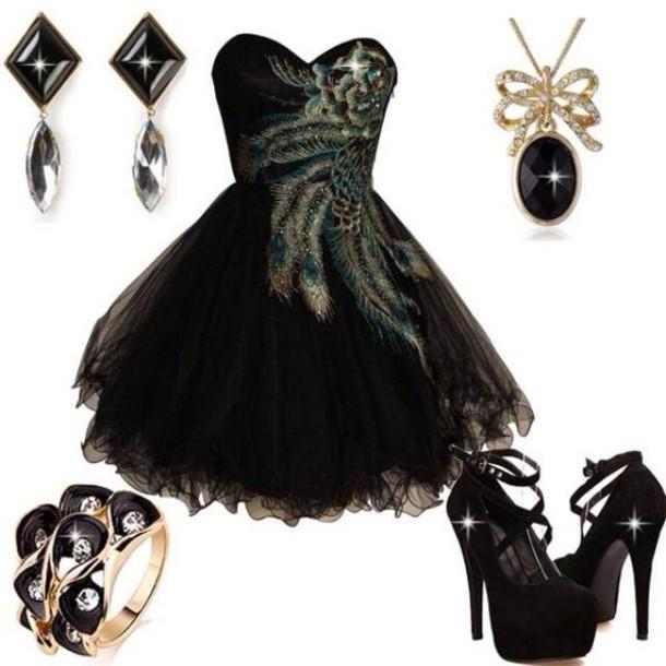 dress black dress style strapless