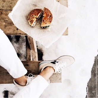shoes new balance beige beige shoes white sneakers cool chic streetwear yeezy new balances nike dope indie grunge hipster boho tumblr beige sneakers lace up heels