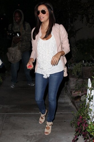sandals eva longoria jeans blouse top