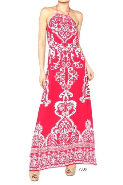 Halter Open Back High Neck Bandana Long Sexy Women Summer Maxi Dress Blue Pink | eBay