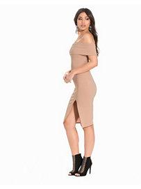 Off Shoulder Slit Dress, NLY One