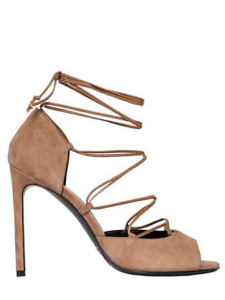 Saint Laurent suede pumps pumps lace suede tan shoes