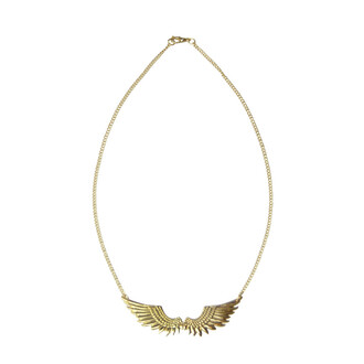 jewels wings ailes gold or doré necklace