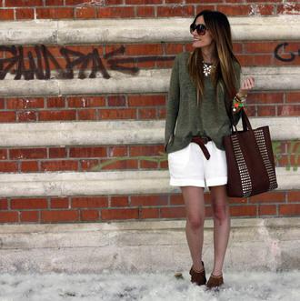 rebel attitude sweater shorts belt bag t-shirt jewels shoes naf naf