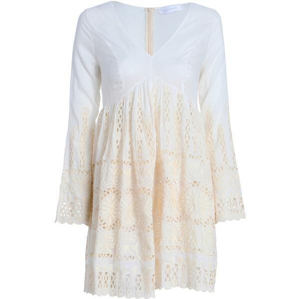 Splendour Broderie Mini Dress - Polyvore