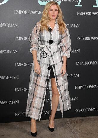 coat ellie goulding london fashion week 2017 pumps mini skirt