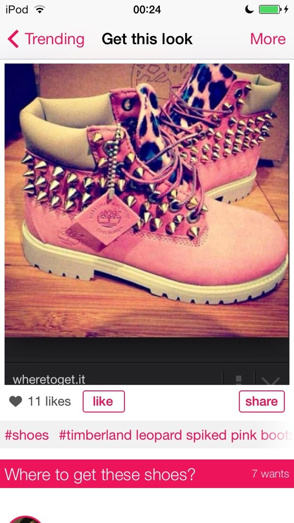 shoes pink boots studded shoes