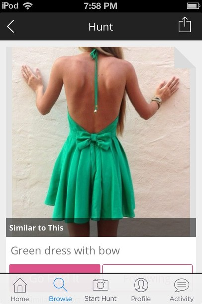 dress green dress green bow cute dress cute girly backless dress backless