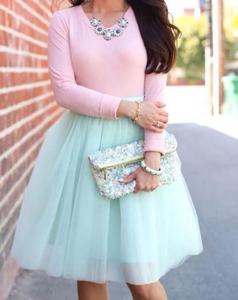 skirt pastel coat shoes shirt pale pink long sleeve shirtt