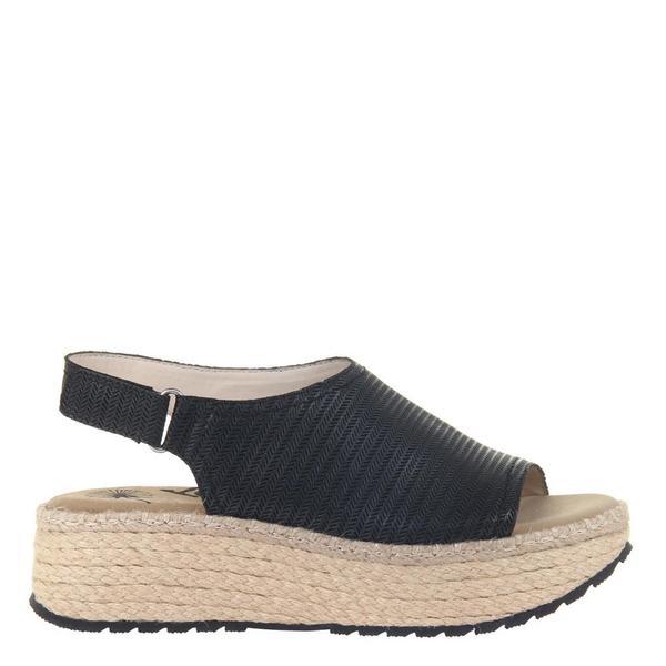 MARINA in BLACK Wedge Sandals