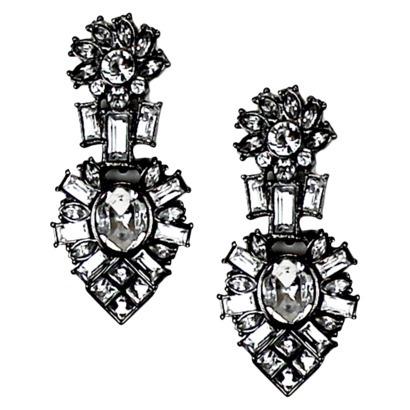 Women's Drop Earrings - Hematite : Target