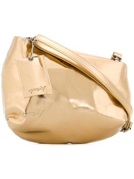 Marsèll women bag shoulder bag leather grey metallic