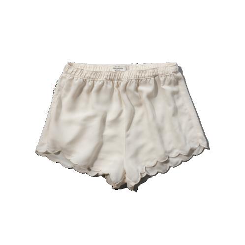 A&f scallop chiffon shorts