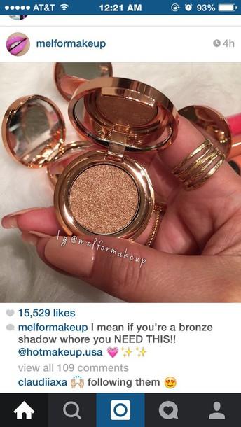make-up sparkle eye shadow make-up bronze