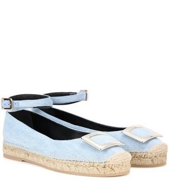 embellished sandals blue shoes