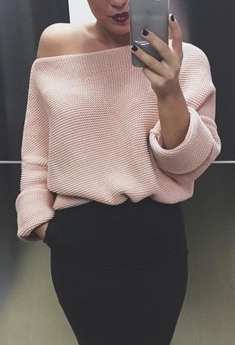 sweater pink zara