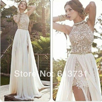 Aliexpress.com : buy 2014 new arrival sexy high neck beaded lace top light blue chiffon prom dress long open back for special occasion dresses from reliable dress up birthday parties suppliers on suzhou babyonline dress store