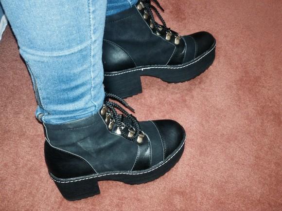 shoes high heels plataform dark plataform shoes cords plataform boots cordons