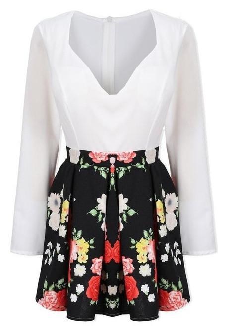 """casual flirt"" flower bustier dress (2 colors available) – glamzelle"