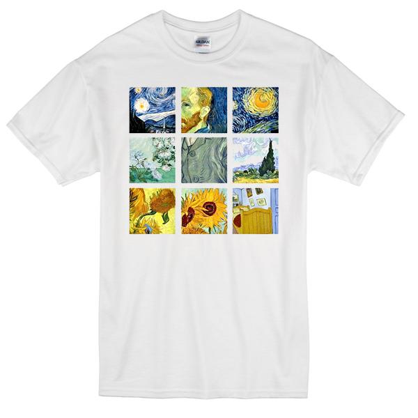 Van Gogh Paintings T-shirt - Basic tees shop Van Gogh Paintings T-shirt
