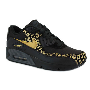 Nike Air Max 90 Men's Trainers Leopard Black Gold White