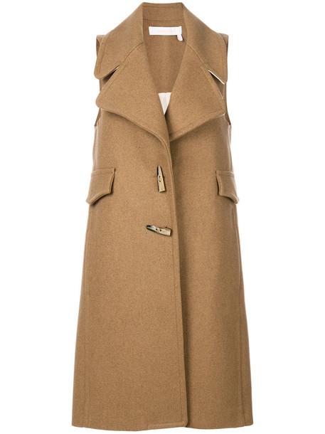 See by Chloe coat duffle coat sleeveless women wool brown