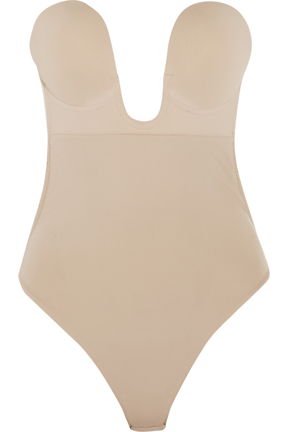 Fashion Forms U-Plunge Self-Adhesive Backless Bodysuit in neutral