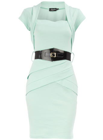 Mint panel bolero dress