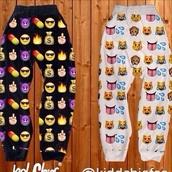 pants,emoji print