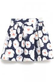 White Floral Skirt - OASAP.com
