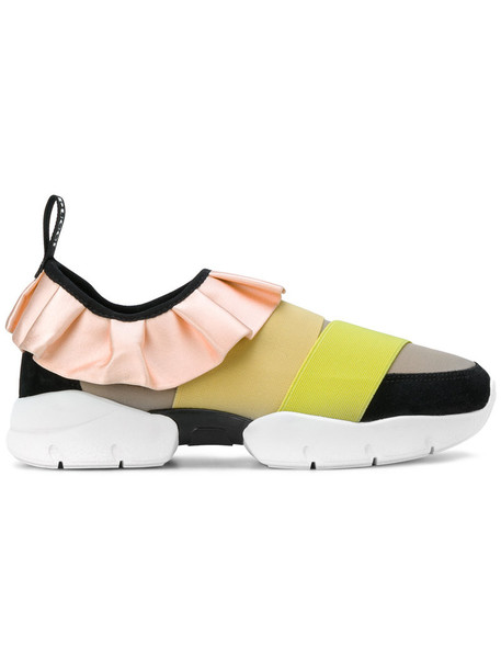 Emilio Pucci women sneakers leather yellow orange shoes