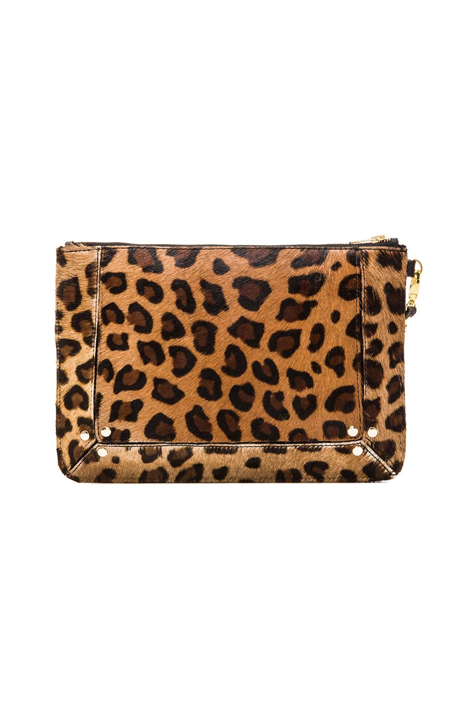 Elliott Label Clutch In Leopard in Leopard | REVOLVE