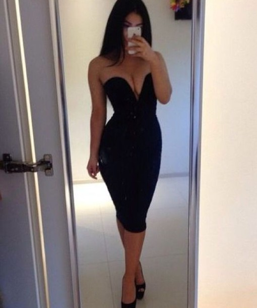 Dress Wow Over Knee Bodycon Date Outfit Night ...
