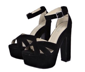 shoes heels high heels stilettos style fashion black classy chunky heels wedges