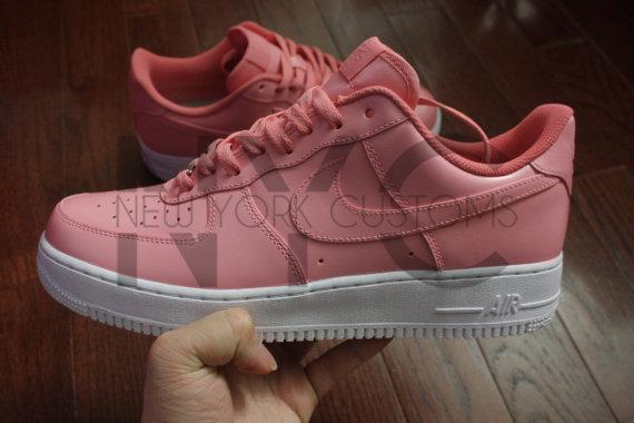 nike air force 1 lows soft pink custom men kids red  blue  gold  gift box