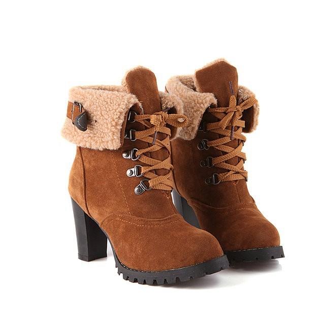 Winter High Heel Boots - Brandliker | Online Accessories & Clothing store