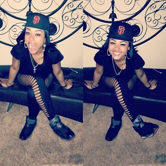 pants leggings tights jordans hat snapback earrings black bracelets necklace india westbrooks india love