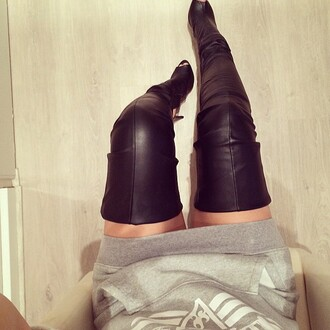 leggings boots thigh highs long boots shoes