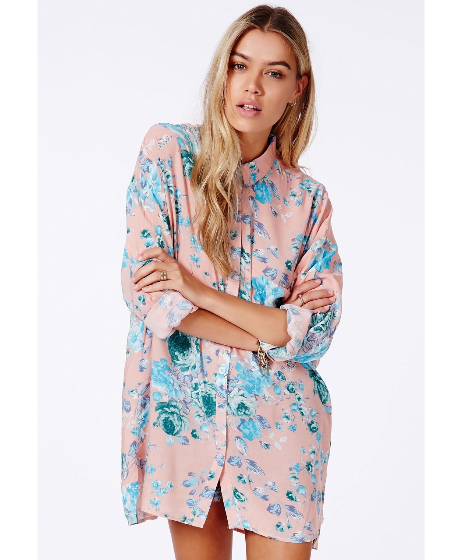 Missguided - Lydda Boyfriend Shirt In Floral Print
