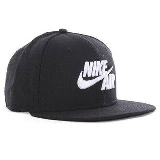 hat nike nike air nike running shoes cap snapback black white